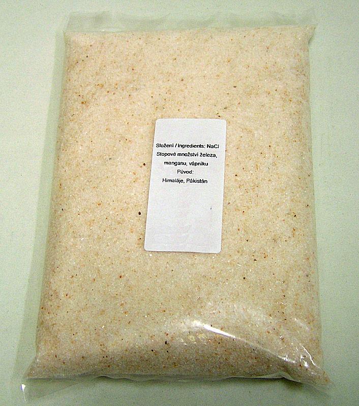 Himálájská sůl jemně mletá, 1kg sáček