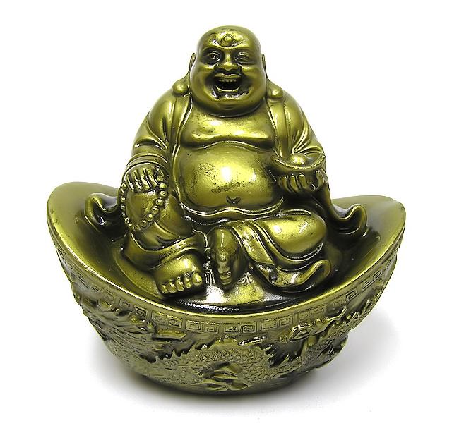 Buddha sedící na ingotu 10cm