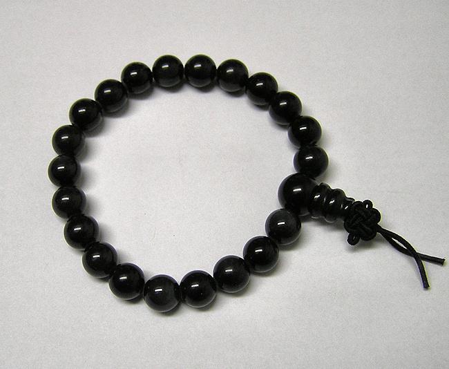 Obsidián černý duhový, energetický náramek