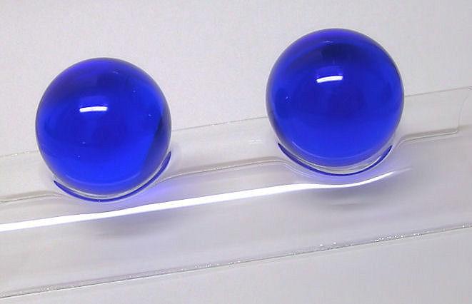 Čínské koule skleněné, Dark Blue 40mm