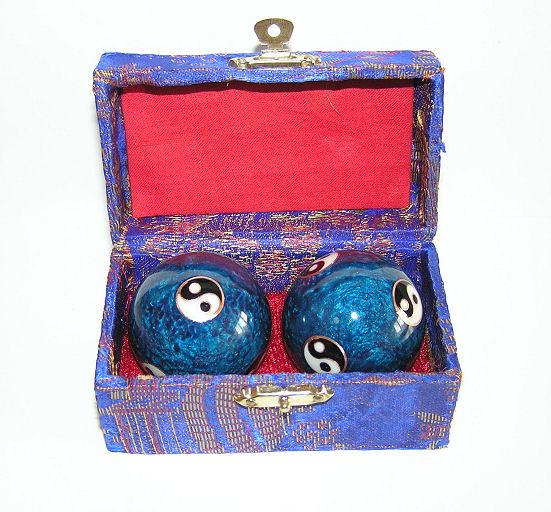 Čínské koule - modré, Jin Jang 45mm