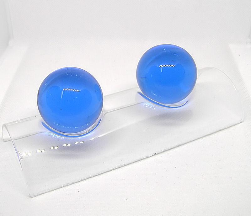 Čínské koule skleněné, Light Blue 40mm