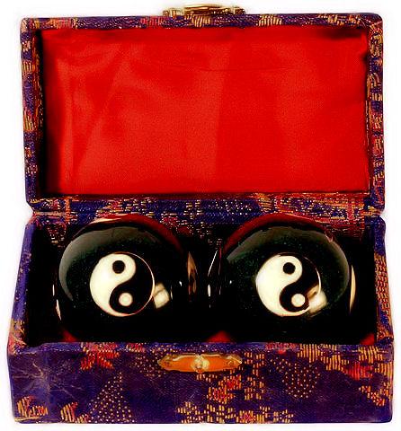 Čínské koule - černé, Jin Jang 40mm