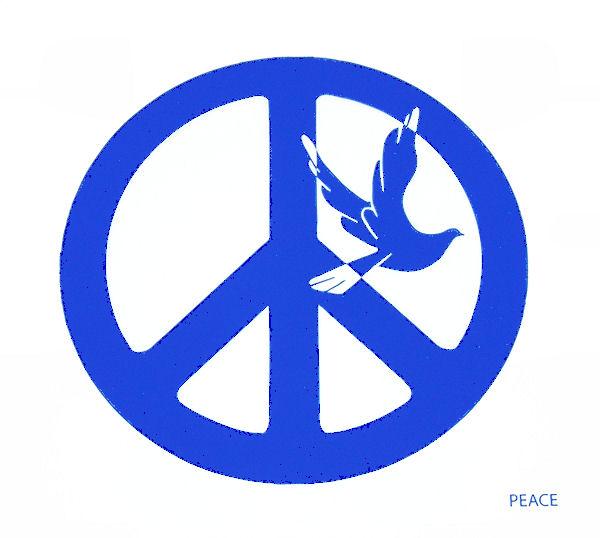 Okenní mandala Peace 10cm