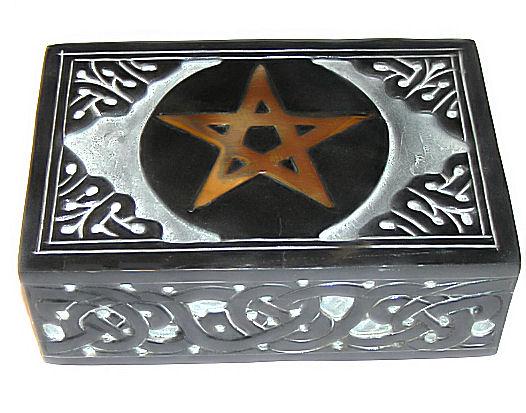 Pentagram dóza na tarot 15 x 10cm