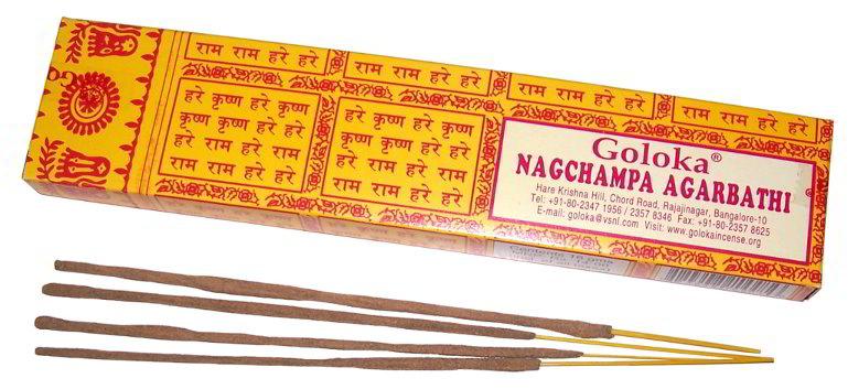 Goloka Nag Champa vonné tyčinky 16 g