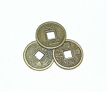 Čínské mince střední, 2,5cm, 3ks.