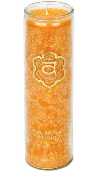 Svíce Chakra 2, sklo 21cm