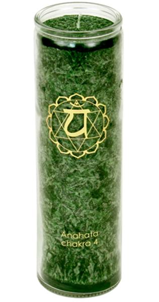 Svíce Chakra 4, sklo 21cm