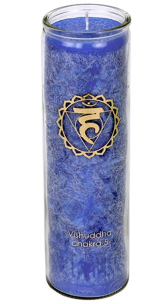 Svíce Chakra 5, sklo 21cm