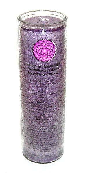Svíce Chakra 7, sklo 21cm
