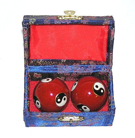 Čínské koule - červené, Jin Jang 35mm
