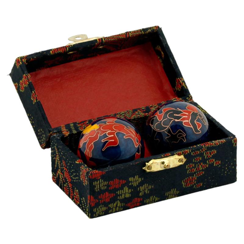 Čínské koule - modré, Drak a Fénix 35mm
