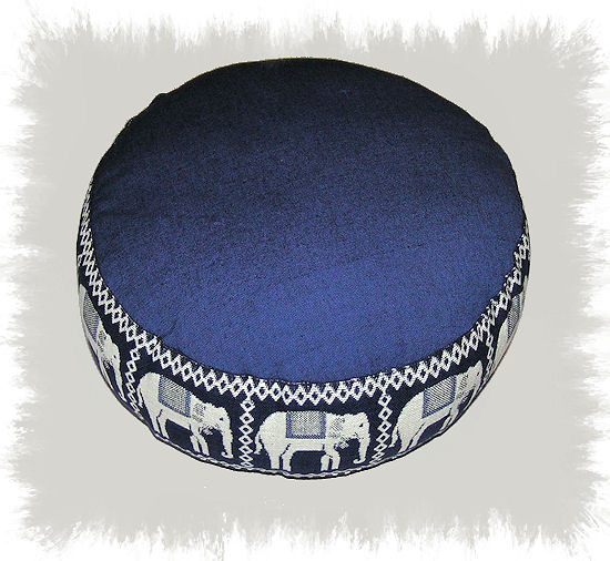 Phoenix Meditační polštář Slon modrý 33x17cm