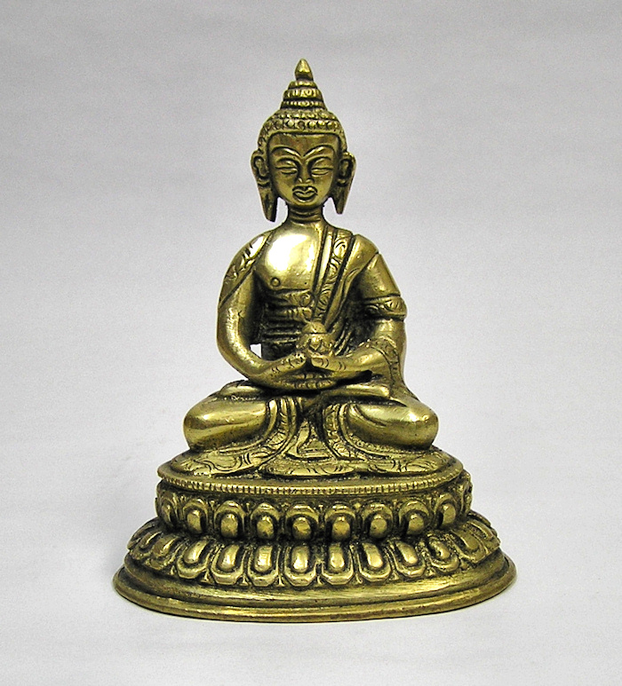 Buddha Amitabha, soška kov 10cm